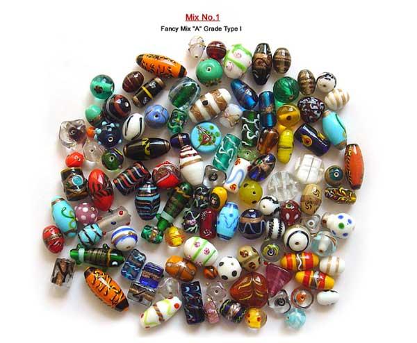 Fancy Mix A Grade Mix Glass Beads