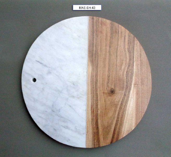 Marble & Wooden Chooping Board