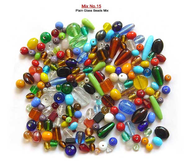 Plain Mix Glass Beads
