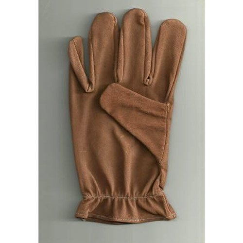 Elastic Wrist Leather Safety Gloves
