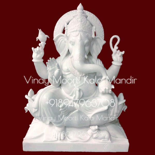 Ganeshji Marble Statue