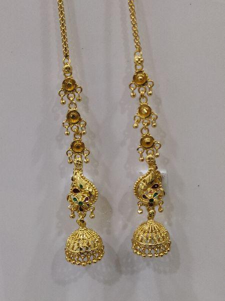 Brass Peacock Earings