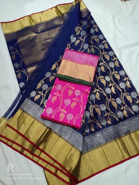Pattu Silk Chanderi Sares