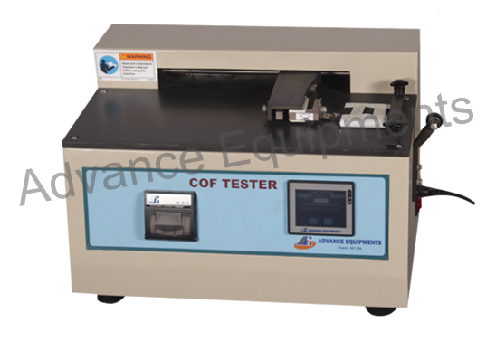 Computerised Static & Kinetic Coefficient Of Friction Tester