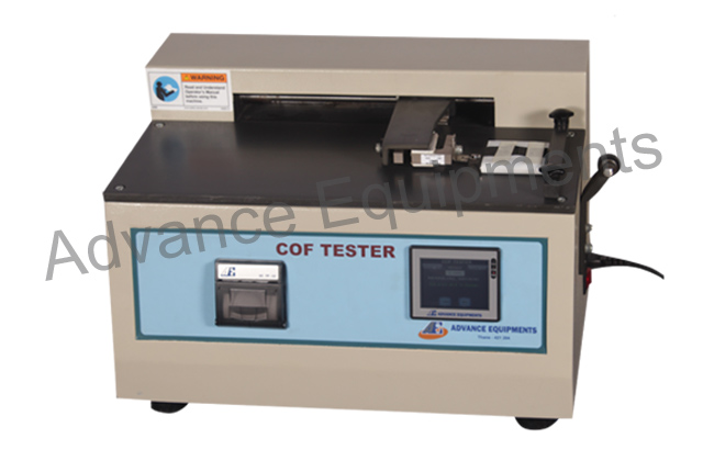 Static & Kinetic Coefficient Of Friction Tester Touch Screen With Printer