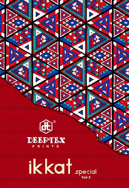 Deeptex Ikkat Special Vol-3 Cotton Saree