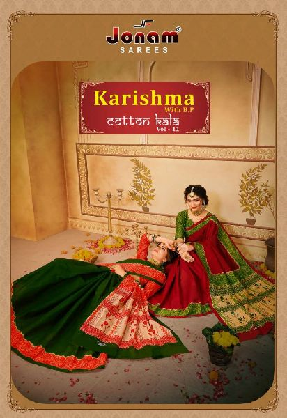 Jonam Karishma Vol 11 Cotton Saree with Bp