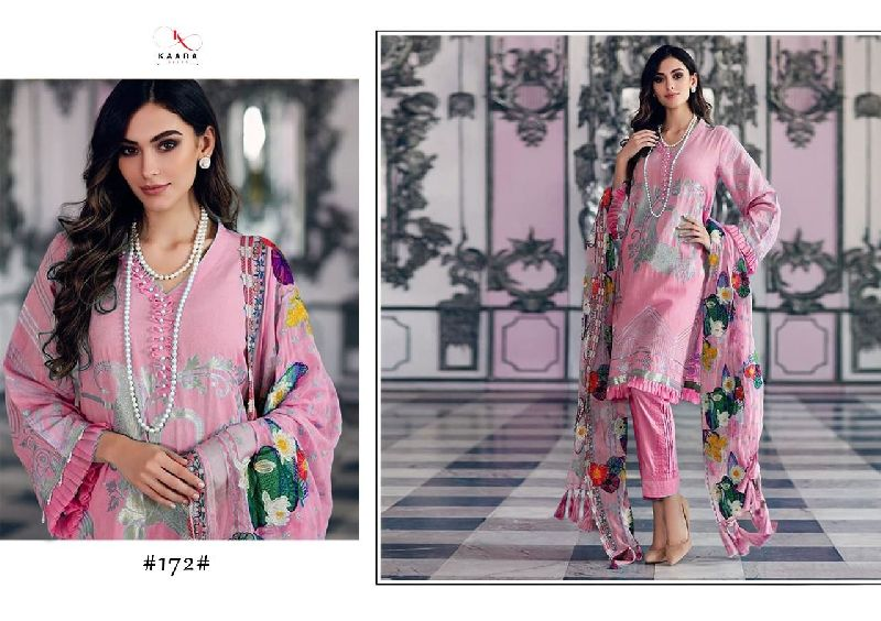 Kaara Suits Anaya Lawn 2020 Pure Cotton Embroidery Patch Cotton Mal Dupatta