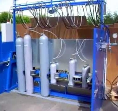 Installation of Cylinder Test Shop