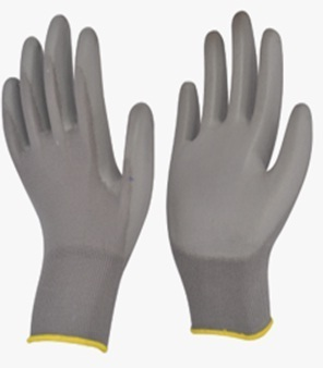 Grey Coated Gloves