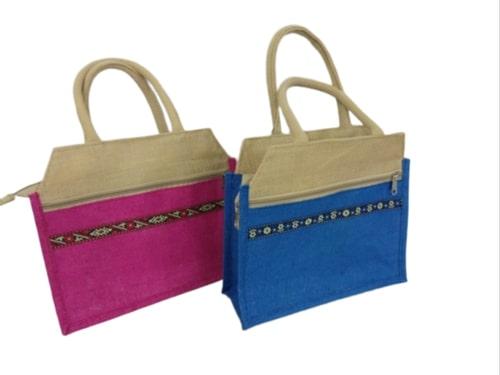 Designer Jute Lunch Bag