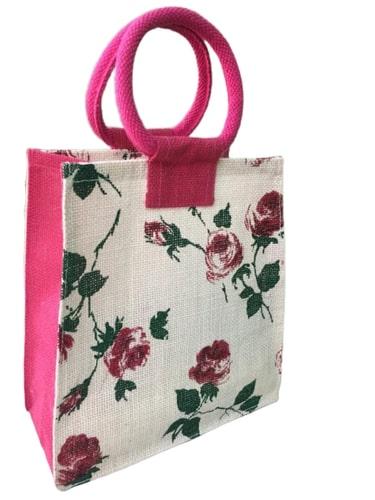Printed Jute Lunch Bag