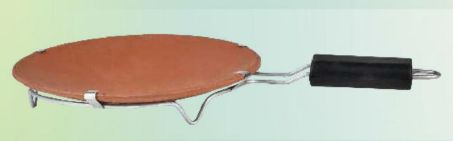 10 Inch Clay Tawa With Handle
