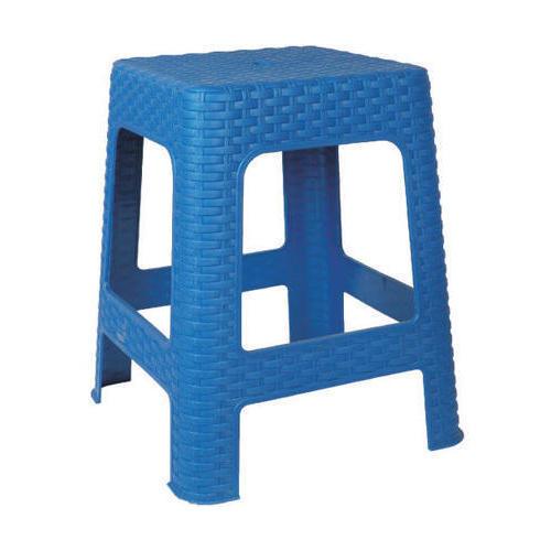 Blue Plastic Seating Stool