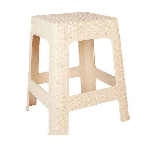 Creamy Plastic Seating Stool
