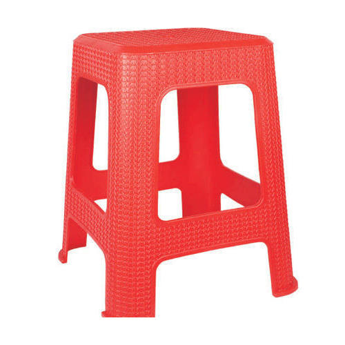 Red Plastic Seating Stool