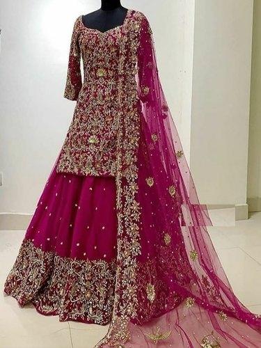 Elegant Bridal Lehenga Choli Embroidery Services