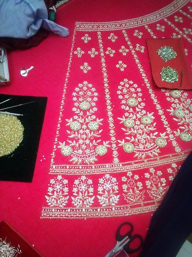 Silk Fabric Embroidery Services