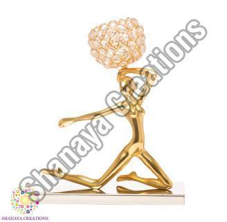 Brass Lady Tea Light Holder