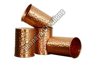 Hammered Copper Glass