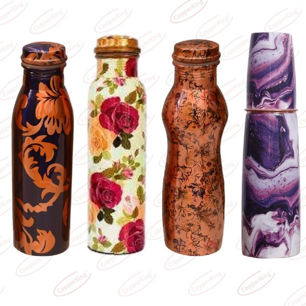 Colourful Copper Water Bottle