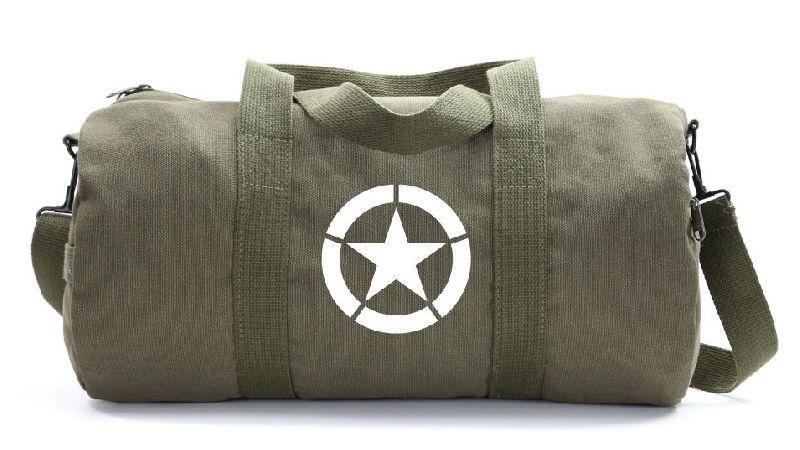 Khaki Military Duffle Bag