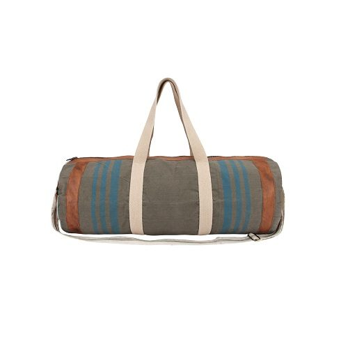 Vintage Look Canvas Duffle Bag
