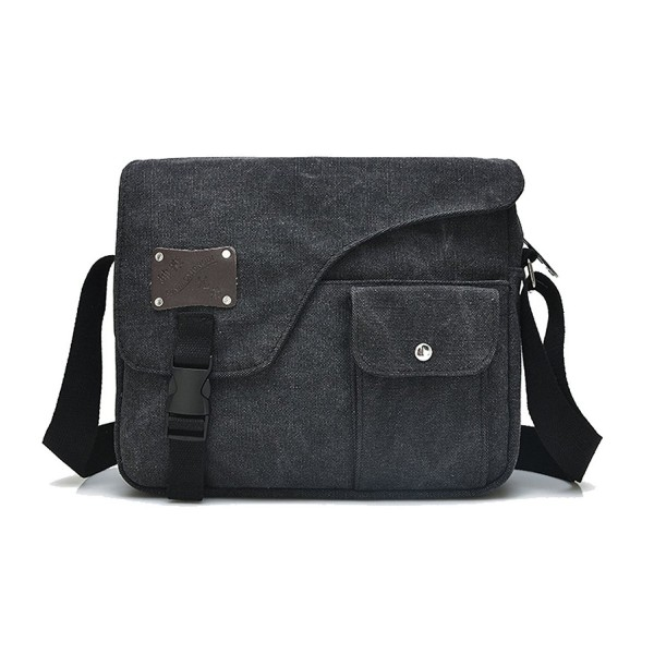 Waxed Canvas Front Pocket Messenger Bag