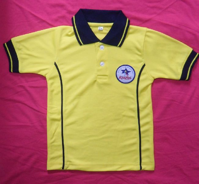 Boys Yellow Polo T Shirt