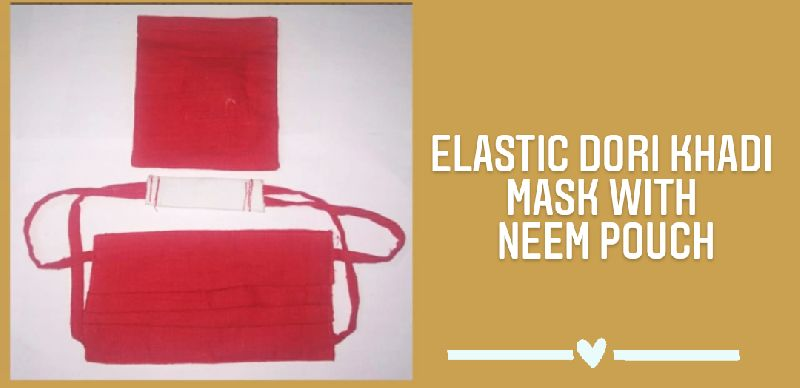 C-9 Elastic Dori Khadi Mask with Pouch