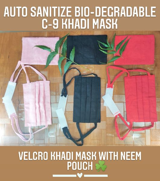 C-9 Velcro Dori Khadi Mask with Pouch