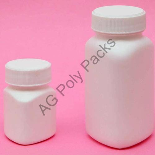 HDPE Triangular Tablet Container