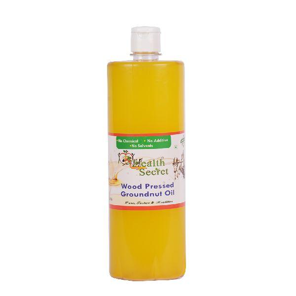 Wood Pressed Groundnut Oil Bottle