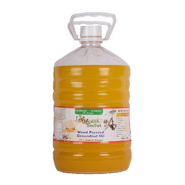 Wood Pressed Groundnut Oil Jar