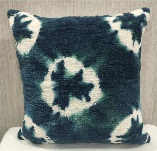 Cotton Casement Blue Cushion Cover