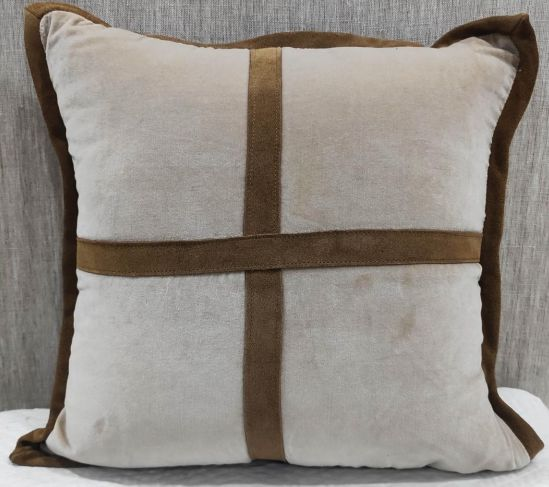 Cotton Velvet Brown Cushion Cover