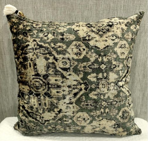 Cotton Velvet Green Cushion Cover