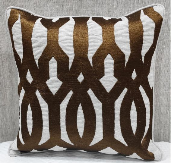 Oatmeal Brown Cushion Cover