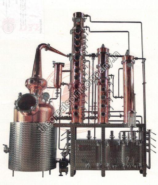 Malt & Pot Still Whisky Making Machine Installation
