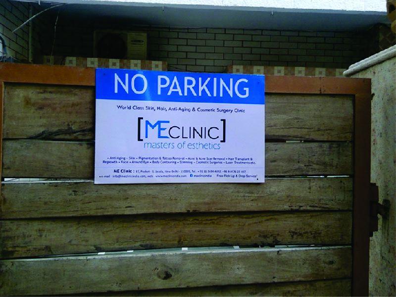 No Parking Boards