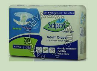 Large Textile Surface Selped Adult Diaper