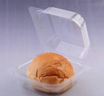 Plastic Burger Packaging Box