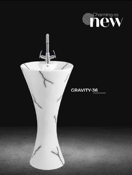 Gravity Pedestal Wash Basin