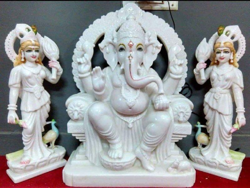 Marble Riddhi Siddhi Ganesh Statue