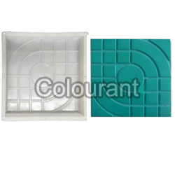 CPT - 10 Silicone Plastic Floor Tiles Moulds