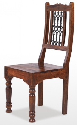 Reclaimed Low Back Jali Chair