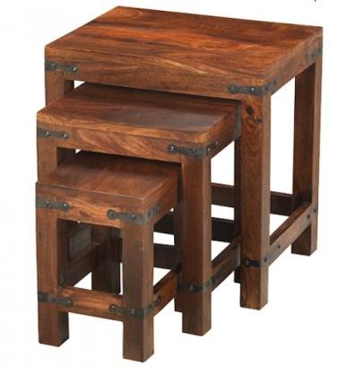 Reclaimed Nest of 3 Tables