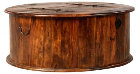 Reclaimed Round Coffee Trunk