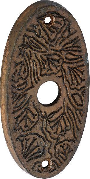 patina cast iron bell push