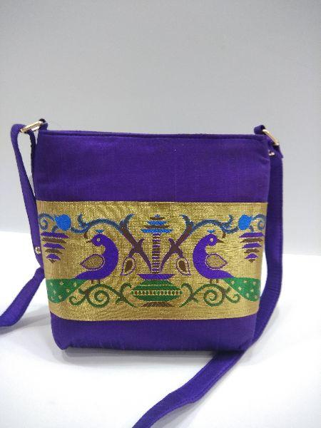 Semi Paithani Sling Violet